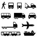 Transportation icon set