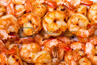 Background of Fried Prawns