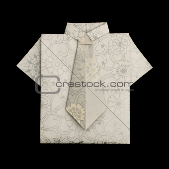 Isolated paper made shirt.