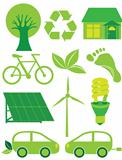 Go Green Eco Symbols Ilustration