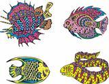 Stylized motley fish