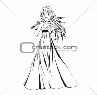 Anime girl singer
