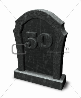 number on gravestone