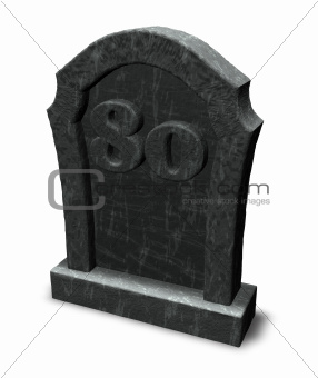 number eighty on gravestone