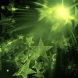 green stars with lights