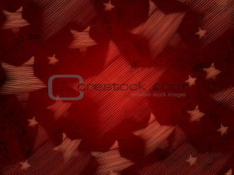 abstract red background with stars