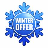 winter offer snowflake label