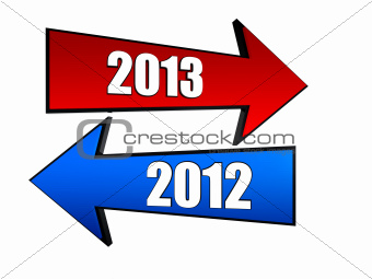 years 2012 and 2013 in arrows