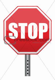 red stop road sign illustration