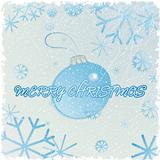 Congratulation card with christmas