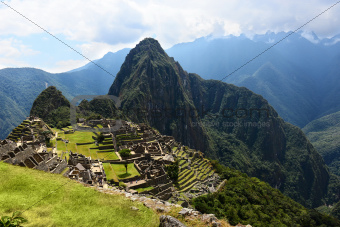 Inca city Machu Picchu