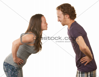 Frustrated Couple Arguing