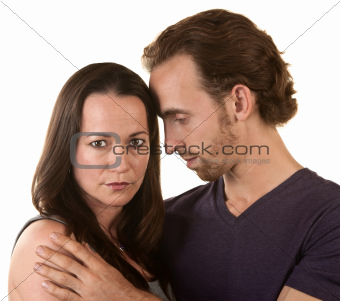 Sad Couple Embracing
