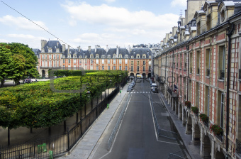 View from the window of the Victor Hugo's House