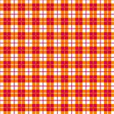 Seamless Gingham, red and orange