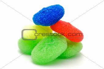 Color nylon scrubbers for  washing