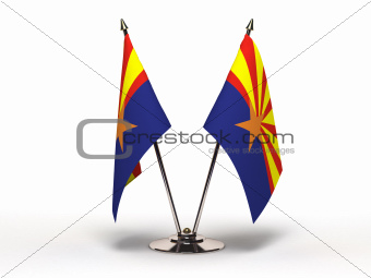 Miniature Flag of Arizona (Isolated)