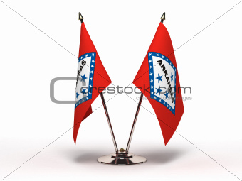 Miniature Flag of Arkansas (Isolated)