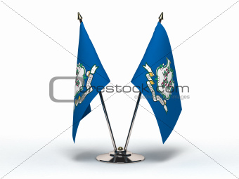 Miniature Flag of Connecticut (Isolated)