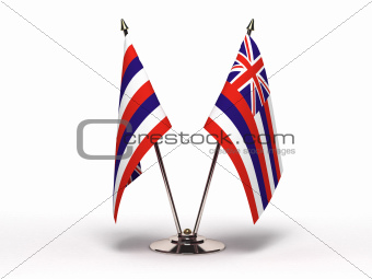 Miniature Flag of Hawaii (Isolated)