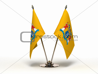 Miniature Flag of New Jersey (Isolated)