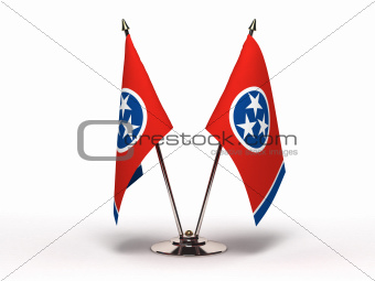Miniature Flag of Tennessee (Isolated)