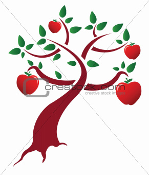 apple tree illustration design