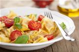 tortellini with cheese and tomatoes