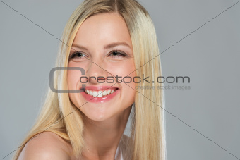 Portrait of smiling girl with blond hair