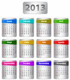Spanish calendar for 2013