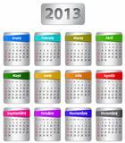 Spanish calendar for 2013