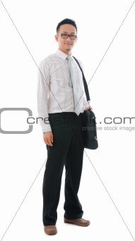 asian male with bag