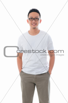 casual asian male