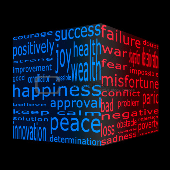 Positive and negative opposites