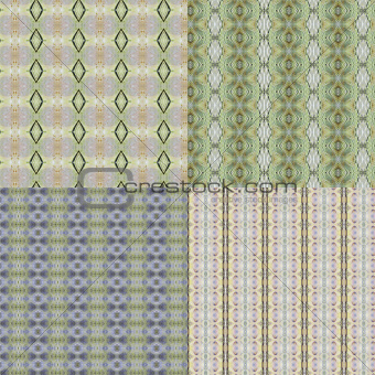 set vintage shabby background with classy patterns