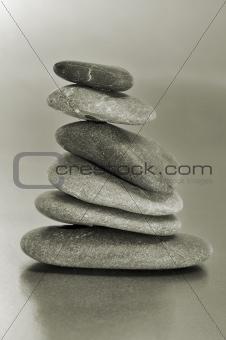 balanced zen stones