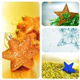 christmas stars collage