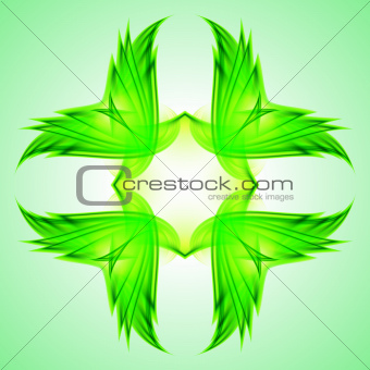 Abstraction green symbol