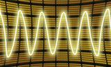 Sine waves measuring display