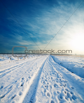 rural road under snow