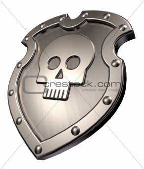 skull on shield