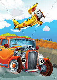 The hot rod and the flying machine