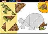 Cartoon turtle puzzle game