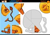 Cartoon lion puzzle game