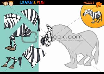 Cartoon zebra puzzle game