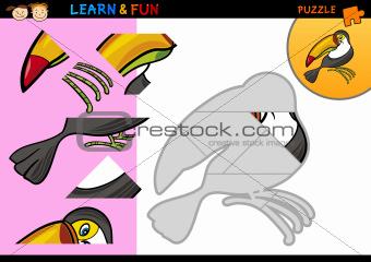 Cartoon toucan puzzle game