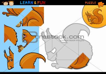 Cartoon squirrel puzzle game