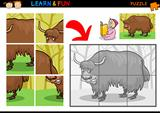 Cartoon yak puzzle game