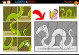 Cartoon snake puzzle game