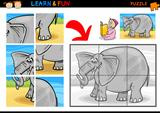Cartoon elephant puzzle game